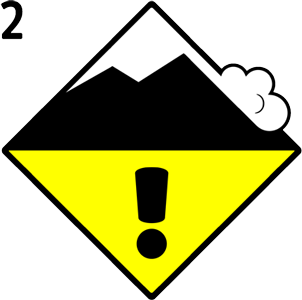 Danger level - 2. Moderate